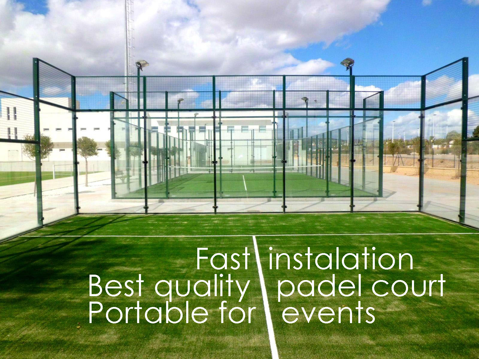 portable tenis padel court