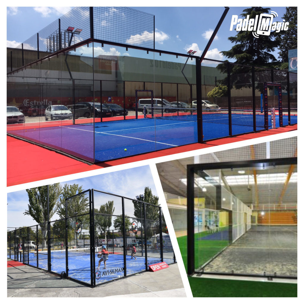 kind of padel tennis courts