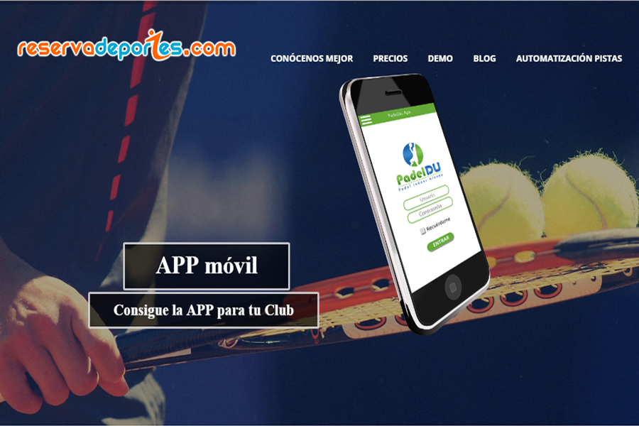 online booking software padel tennis